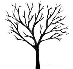 Tree Drawings Black and White | Lone Black Tree by SkullCroos