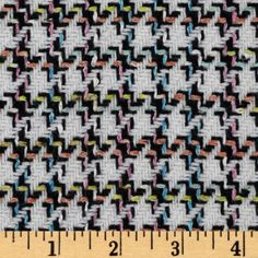 Wool Blend Coating Houndstooth Black/Multi from fabric.com