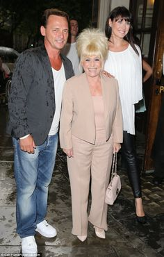 Barbara Windsor toasts her  birthday in style
