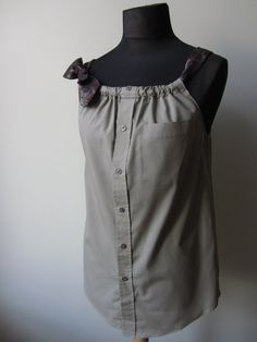 Upcycled Clothing  Boyfriend Tank Top in by GarageCoutureClothes, $48.00