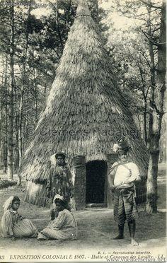 1907 Exposition Coloniale Paris, Bois de Vincennes - 13. Hutte et Canaques des Loyalty