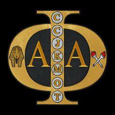 Alpha Phi Alpha Greek Tackle Twill SWAG Emblems. Black & Gold