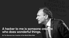 Sir Tim Berners-Lee, Inventor of the World Wide Web at the World Economic Forum Annual Meeting 2013 in Davos