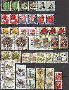 NEW ZEALAND Used selection of pairs (1 triple) stock card not included.