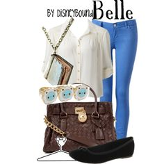 """Belle"" by lalakay on Polyvore #disney (IM DOING THIS FOR SCHOOL AS SOON AS ITS COLDER LOL)"