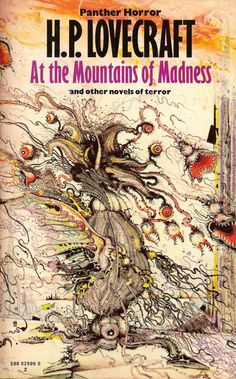 At the Mountains of Madness - Cthulhu Mythos, a novel by HP Lovecraft Vintage Bizarre, Creepy Vintage, Retro Horror, Vintage Horror, Horror Fiction, Horror Books, Pulp Fiction, Fiction Novels, Horror Art