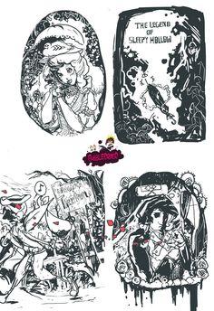 Sleepy hollow cover BW by bubbledriver.deviantart.com on @deviantART