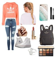 """""""Casual Clothes"""" by arunaelah on Polyvore featuring adidas, Topshop, Converse, Gray Malin, SoGloss, Forever 21 and Kate Spade"""