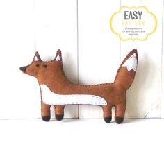 Fox Sewing Pattern Fox Stuffed Animal Hand by LittleSoftieShoppe