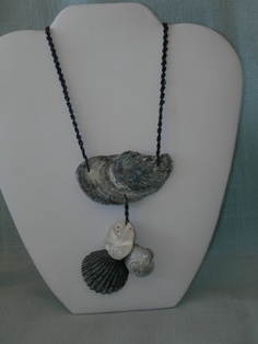 Oyster, moon snail and scallop shell collected in Nags Head, NC  SN03 $15