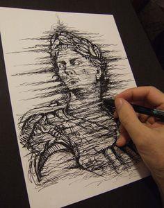 Julius Caesar - Pencil on paper Print, Sign Art, Drawings, Julius Caesar, Art, Original Drawing, Downloadable Print, Giclee Print, Photo Studio