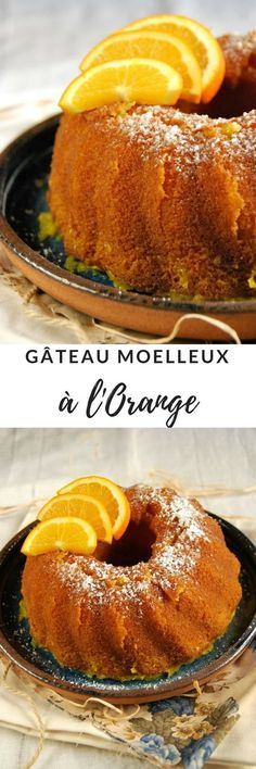 gateau moelleux orange