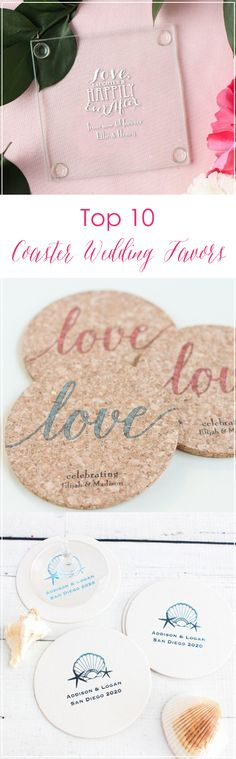 Find the best coaster for your wedding favors! From personalized cork coasters to photo holders, we've got you covered.