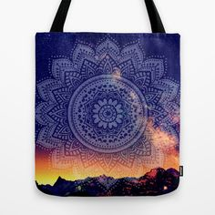 Buy Night Mandala Tote Bag by haroulita. Worldwide shipping available at Society6.com. Just one of millions of high quality products available.