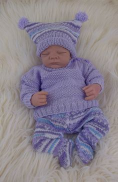 Baby Knitting Pattern Download PDF von PreciousNewbornKnits