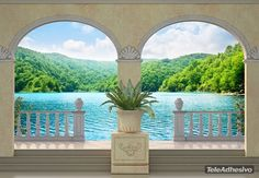 Trompé l'oeil, wall mural, high resolution picture. Great design.
