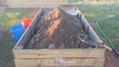 We dug out the sides to relieve pressure and stop the bowing Building Raised Garden Beds, Family Of 5, Fine Gardening, Think And Grow Rich, Little Designs, Works With Alexa, Along The Way, Home Improvement, Diy