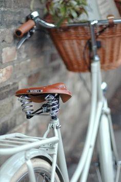 vintage bike with old basket
