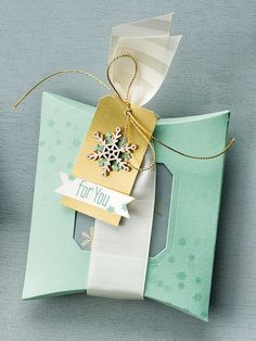 Holiday Must-Have: 3 Square Pillow Box Die Ideas by Stampin' Up!