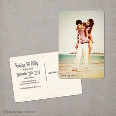 "Vintage Save the Date Postcard - the ""Madelyn 3"""