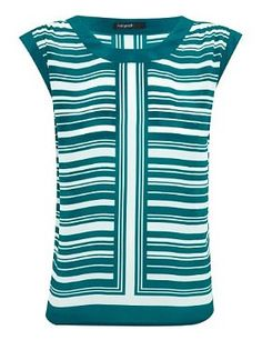 Autograph Pure Silk Striped Top