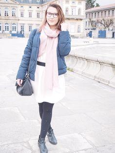 Un look rosé bleuté pour affronter le froid - Maristochats #Fashion #look #outfit #blogger