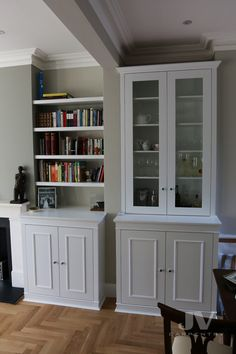 23 Alcove Shelving Ideas for your Living room | JV Carpentry Alcove Bookshelves, Alcove Shelving, Wall Shelving Units, Shelving Design, Shelving Ideas, Alcove Storage Living Room, Living Room Shelves, Shelves In Bedroom, Alcove Cabinets