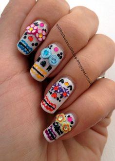 Cinco De Mayo nails, love them