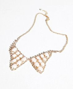 Shiny Collar Necklace with Jewel and Diamond from chicnova.com $21.50