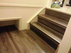Luxury vinyl wood planks on stairs LVT vinylwood You'll