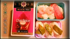 Chai with sushi bento Sashimi, Chai, Bento, Sausage, Spices, Low Carb, Lunch, Dishes, Shrimp