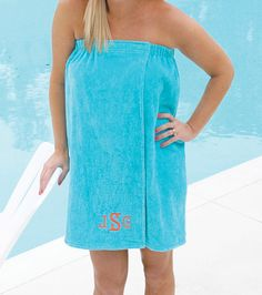 personalized towel wrap