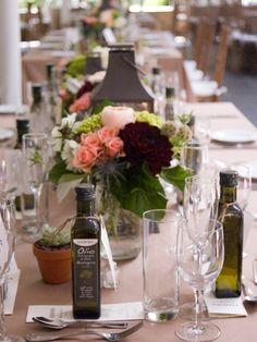 Rustic table at Appleford Estate