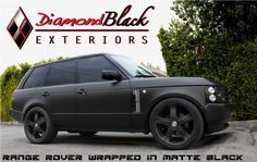 RANGE ROVER Wrapped in Matte Black