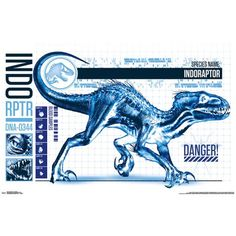 Trends International Jurassic World: Fallen Kingdom - Indo-Raptor Wall Poster, x Unframed Version Jurassic World Raptors, Jurassic World Dinosaurs, Jurassic World Fallen Kingdom, Jurassic Park World, Raptor Dinosaur, Dinosaur Art, Jurrassic Park, Vegito Y Gogeta, Indominus Rex