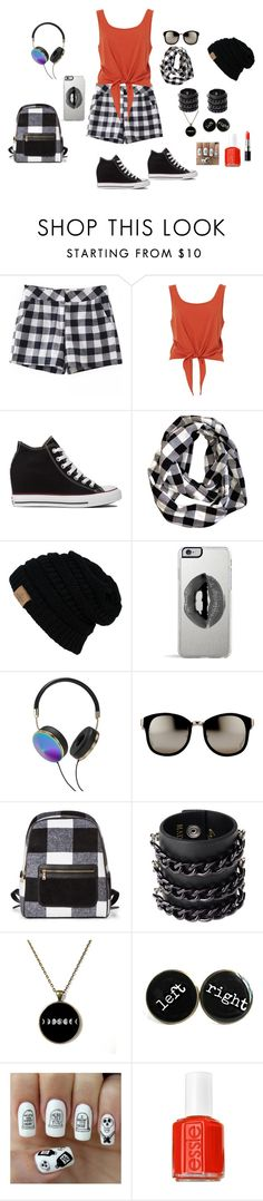 """Bez naslova #84"" by mei-terumi ❤ liked on Polyvore featuring Converse, Lipsy, Frends, Linda Farrow, Mia Bag, Nail Pop, Essie and Bobbi Brown Cosmetics"