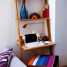 Perfect for college dorms, this leaning work station is an easy construction you can DIY (Photo: IPC)