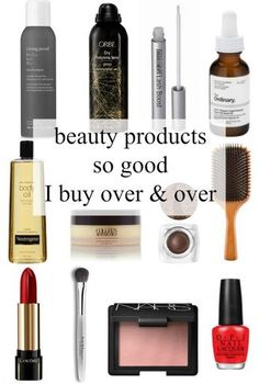 best beauty products - items I buy over and over and swear by