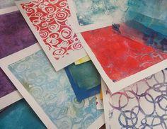 Monoprinting mania!  #monoprint #gelli #gelliprint @gelliarts