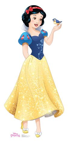 """Princess Snow White from the animated Disney movie """"Snow White and the Seven Dwarfs"""" is depicted in this lifesize tall) cardboard cutout. Disney Pixar, Walt Disney, Disney Animation, Disney Magic, Disney Art, Disney Mural, Disney Wiki, Cinderella Disney, Disney Princess Snow White"""