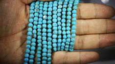 312.25 Cts Five Turqupise round bead  strands PPP 717 turquoise beads, natural turquoise, stabilized turquoise, turquoise necklace