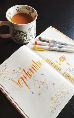 Creative Inspiration: Bullet Journal Title Pages september bullet journal | Bujo Headers planner art monthly Spread title ideas Tumblr