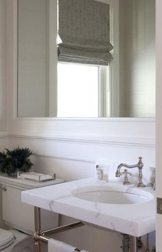 Honed marble top washstand