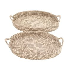 Seagrass 2 Piece Accent Tray Set