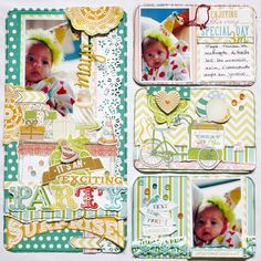 "Pocket Page *Webster�s Pages* - Scrapbook.com - Document the 'month"" birthdays for babies!"