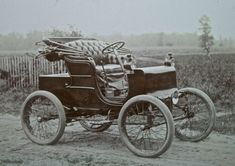 1900 Model C Packard: First Car with Steering Wheel - one of the many innovations of Packard was the steering wheel we know today (or it's great great great great grandfather)