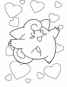 Small Pokemon Unleashed The Power Of Love Coloring Page