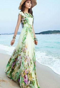 A romantic summer dress with hat...love this classic combo...