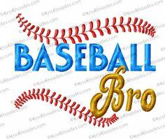 Baseball Bro - Embroidery Design by Kris Rhoades