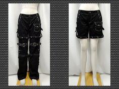 【楽天市場】ゴスパンク ゴシック v系 2ウエイベルト装飾カーゴパンツ黒:PARROT